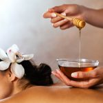 Beauty treatment - massage with honey